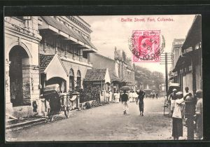 AK Colombo, View of Baillie Street, Strassenpartie