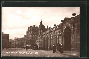 AK Leicester, Midland Station, Bahnhof