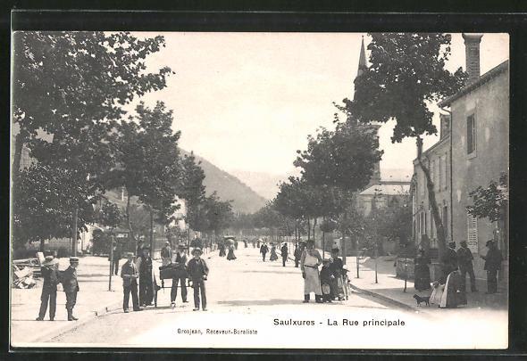 AK Saulxures, La Rue Principale, Strassenpartie im Ortskern