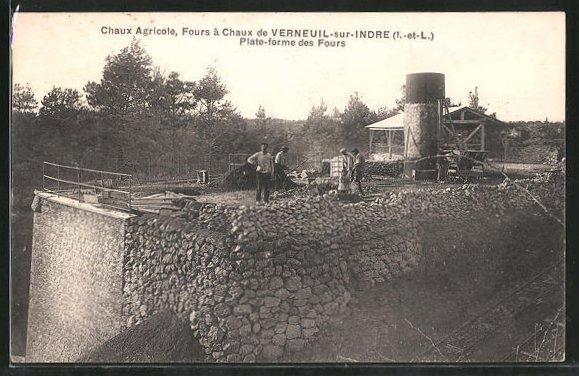 AK Verneuil-sur-Indre, Chaux Agricole, Plate-forme des Fours