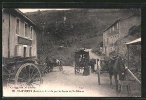 AK Valfleury, Arrivee par la Route de St. Etienne