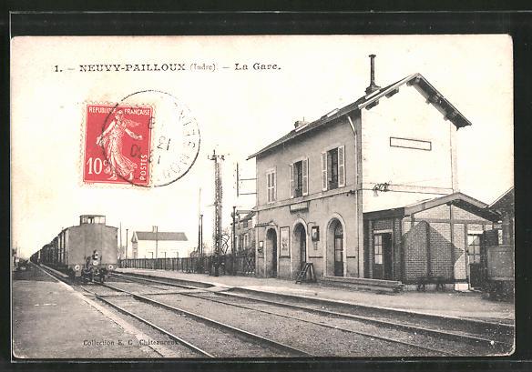 AK Neuvy-Pailloux, La Gare