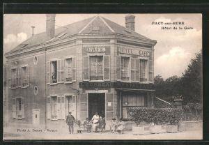 AK Pacy sur Eure, Hotel de la Gare
