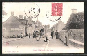 AK Mézières, Rue Neuve, Strassenpartie im Ort