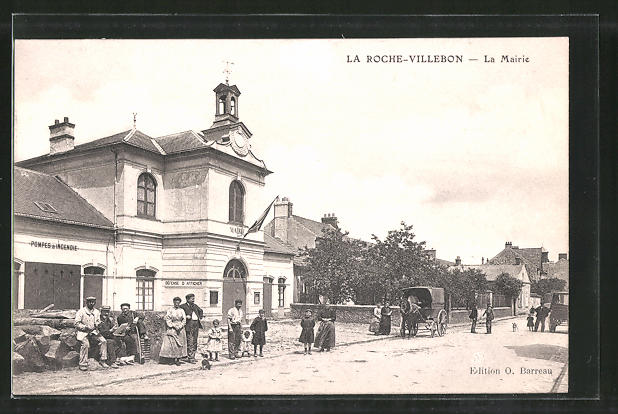 AK La Roche-Villebon, La Mairie, Strassenpartie am Rathaus