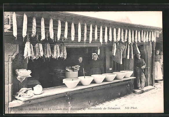 AK Morlaix, La Grande Rue, Boutique de Marchande de Salaisons