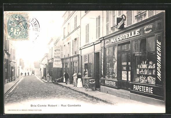 AK Brie-Comte-Robert, Rue Gambetta