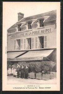 AK Juziers, L'Hostellerie de la Poule au pot, Maison Veret