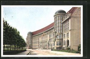 AK Leipzig, Blick auf die Deutsche Bücherei