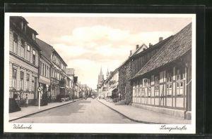 AK Walsrode, Langestrasse mit Geschäften