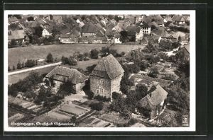 AK Sachsenhagen, Grafschaft Schaumburg vom Flugzeug aus