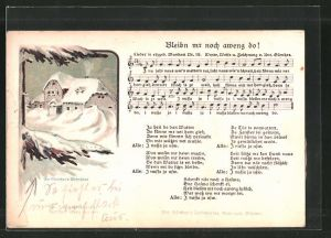 Lied-AK Anton Günther Nr. 19: Lied in erzgeb. Mundart