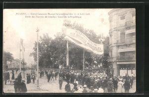 AK Roanne, Grand Concours Musical International 1908, Cours de la République, Sängerfest