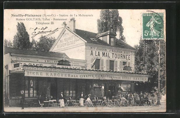 AK Neuilly-Plaisance, Station de la Maltournée, Maison Goltais, Tabac-Restaurant