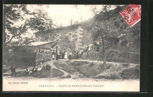 AK Cotatay, Café & Restaurant Galot mit Gartenterrasse