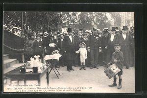 AK Vienne, Concours National de Sapeurs-Pompiers des 3, 4 et 5 Juin 1911, Feuerwehr