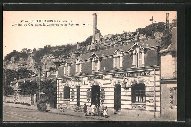 AK Rochecorbon, L'Hotel du Croissant, la Lanterne et les Rochers