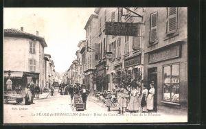 AK Le Péage-de-Roussillon, Hotel du Commerce et Place de la Réunion