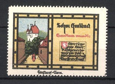 Reklamemarke Schwäbisch Gmünd, Ortsansicht