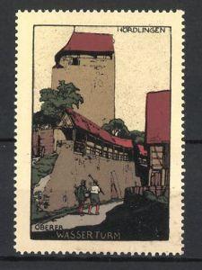 Reklamemarke Nördlingen, Oberer Wasserturm