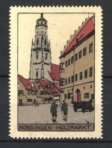 Reklamemarke Nördlingen, Partie am Holzmarkt