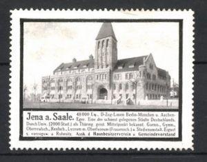 Reklamemarke Jena, Gebäudeansicht