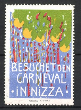 Reklamemarke Nizza, Besuchet den Carneval-Karneval