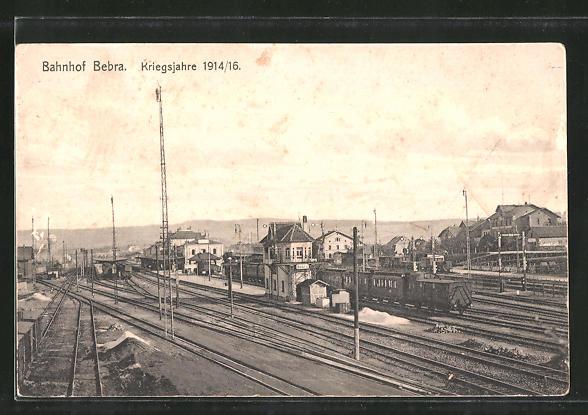 AK Bebra, Bahnhof in den Kriegsjahren 1914/16