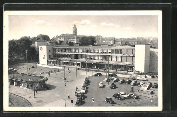 AK Kassel, Blick auf den Bahnhofsplatz