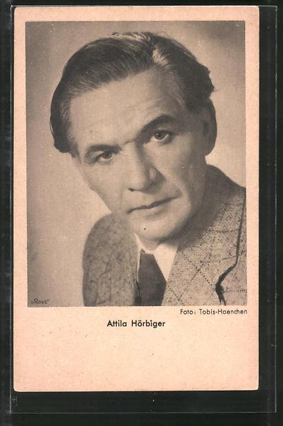 AK Schauspieler Attila Hörbiger im Anzug posierend