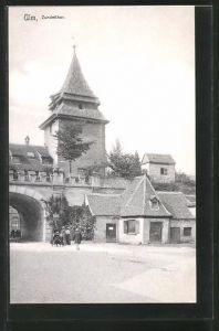 AK Ulm, Strassenpartie am Zundelthor