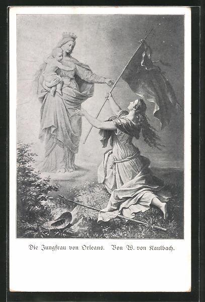 Künstler-AK Hermann Kaulbach: Die Jungfrau von Orleans