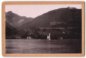 Fotografie Fotograf unbekannt, Ansicht St. Wolfgang im Salzkammergut, Blick zum Leuchtturm