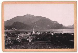 Fotografie Fotograf unbekannt, Ansicht St. Gilgen, Blick über den Ort im Salzkammergut