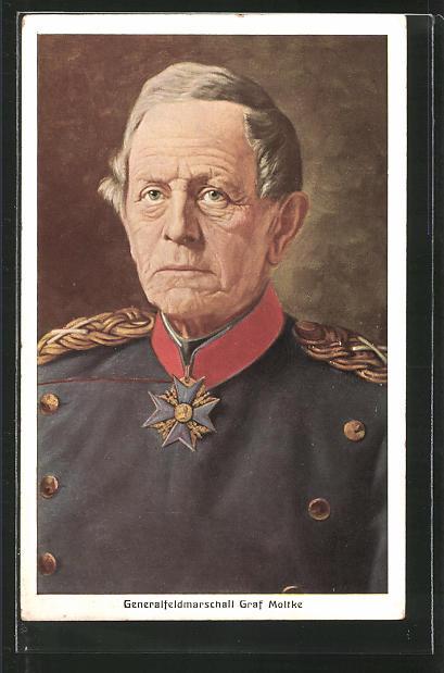Künstler-AK Generalfeldmarschall Graf Moltke, Reichseinigungskriege