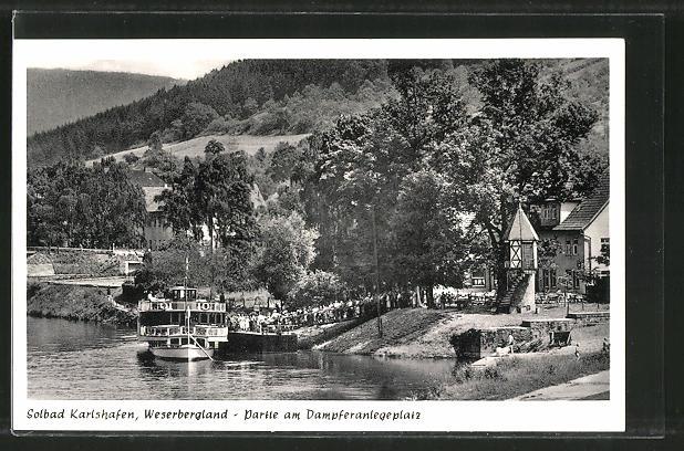AK Bad Karlshafen, Partie am Dampferanlegeplatz 0