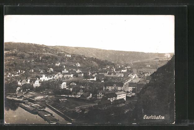 AK Bad Karlshafen, Ortspanorama vom Berg aus gesehen 0