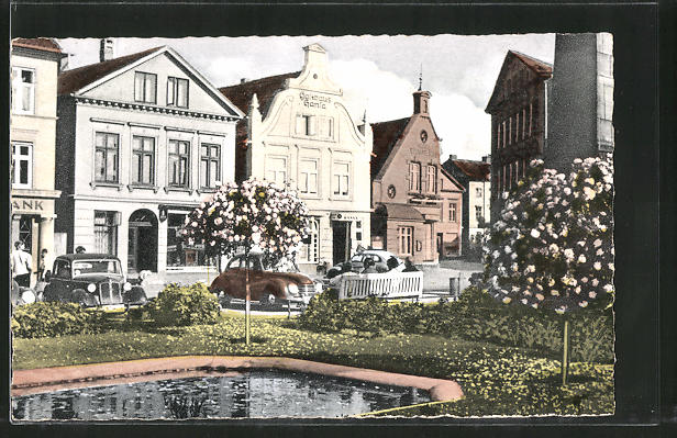 AK Eutin, Markt mit Rathaus 0