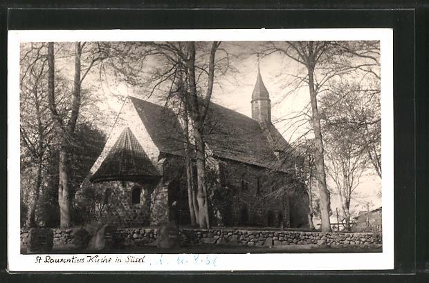 AK Süsel, Blick zur St. Laurentiuskirche 0