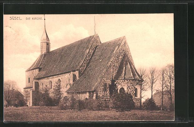 AK Süsel, Blick zur Kirche