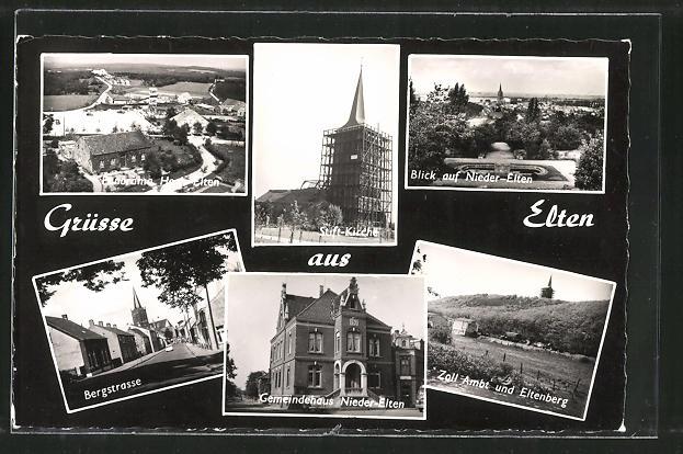 AK Elten, Bergstrasse, Stiftskirche, Gemeindehaus 0