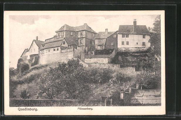 AK Quedlinburg, Blick zum Münzberg 0
