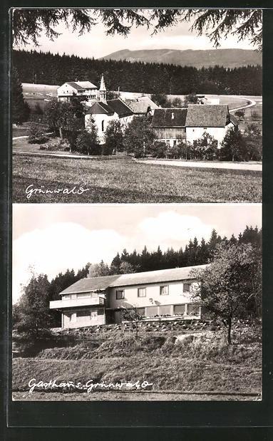 AK Grünwald, Totale und Gasthaus Grünwald
