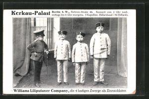 AK Williams Liliputaner Company, im Kerkau-Palast, Berlin