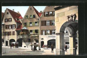 AK Stuttgart-Altstadt, Partie am Hans im Glück-Brunnen