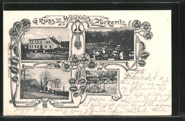 AK Zöckeritz, Gasthof zum Waldhaus
