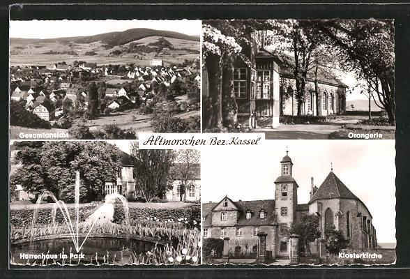 AK Altmorschen, Klosterkirche, Orangerie, Herrenhaus