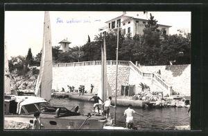 AK Crikvenica-Dramalj, Blick zum Hotel Villa Danica
