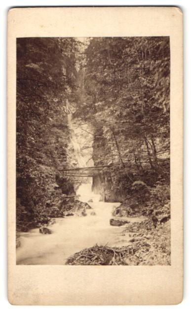 Fotografie Fotograf unbekannt, Ansicht Wimbachklamm, Wasserfall im Bayerischen Hochland 0