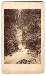 Fotografie Fotograf unbekannt, Ansicht Wimbachklamm, Wasserfall im Bayerischen Hochland